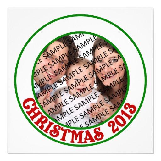 Tarjeta plana de la foto conmemorativa del navidad comunicados