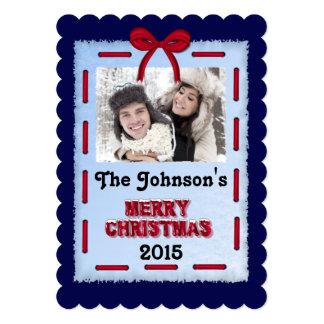 """Tarjeta plana de la foto de las Felices Navidad Invitación 5"""" X 7"""""""