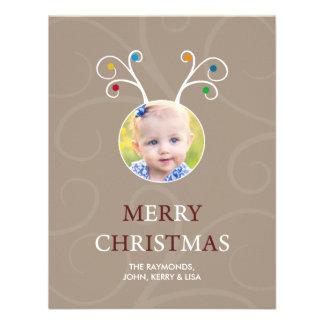 Tarjeta plana de la foto de Rudolph del navidad Comunicados Personalizados
