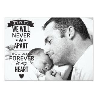 Tarjeta plana de la foto del día de padre - invitación 12,7 x 17,8 cm