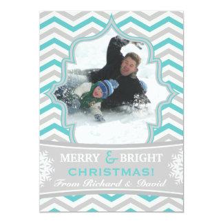 """Tarjeta plana de la foto del galón del navidad invitación 5"""" x 7"""""""