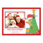 Tarjeta plana de la foto del navidad de la comunicado personal