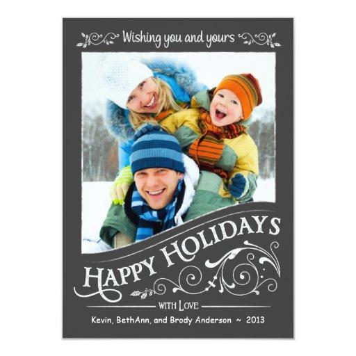 Tarjeta plana de la foto del navidad del día de invitación 11,4 x 15,8 cm