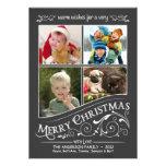Tarjeta plana de las Felices Navidad 4-Photo de la