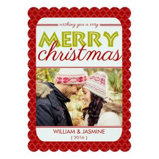 Tarjeta plana de las Felices Navidad muy del rojo Anuncios