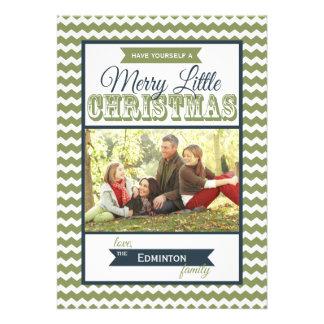 Tarjeta plana de los Felices pequeños Navidad de C