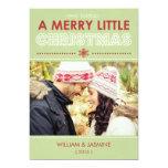 Tarjeta plana de los Felices pequeños Navidad Anuncio Personalizado
