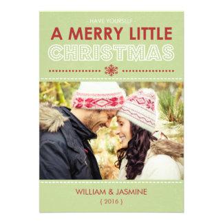Tarjeta plana de los Felices pequeños Navidad mode Anuncio Personalizado