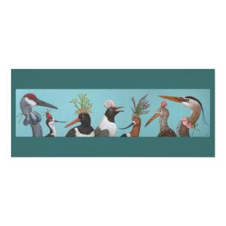 """Tarjeta plana de los pájaros de agua invitación 4"""" x 9.25"""""""