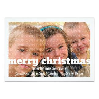 Tarjeta plana de marfil de la foto de las Felices Invitación 12,7 X 17,8 Cm