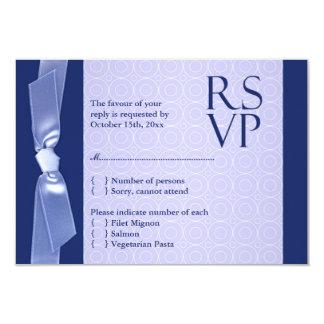 Tarjeta plana del boda judío de RSVP (con la Invitaciones Personales
