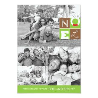 """Tarjeta plana del día de fiesta 5x7 de NOEL Invitación 5"""" X 7"""""""