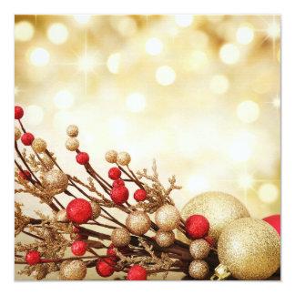 """Tarjeta plana del navidad invitación 5.25"""" x 5.25"""""""