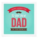 Tarjeta plana feliz del día de padre invitacion personal