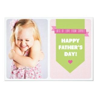 """Tarjeta plana rosada linda del día de padre de los invitación 5"""" x 7"""""""