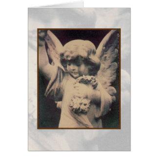 Tarjeta polaroid de la transferencia del ángel