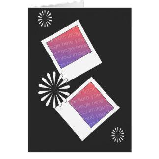 Tarjeta polaroid del día de madres de las fotos