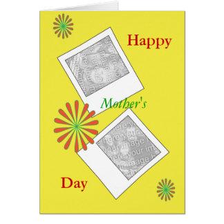 Tarjeta polaroid del día de madres de las fotos y