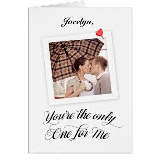 Tarjeta polaroid personalizada de la tarjeta del