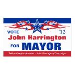 Tarjeta política de la campaña electoral de - alca tarjetas de visita