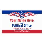 Tarjeta política de la campaña electoral de - Demó Plantillas De Tarjetas De Visita