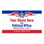 Tarjeta política de la campaña electoral de - tarjetas de visita