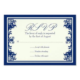 Tarjeta poner crema de la respuesta de la voluta invitación 8,9 x 12,7 cm