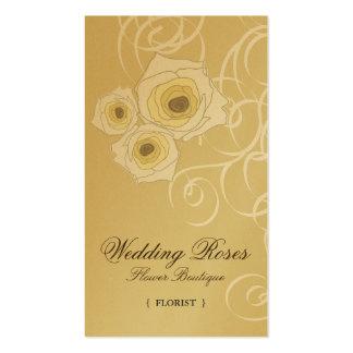 tarjeta poner crema del perfil de los rosas y de tarjetas de visita