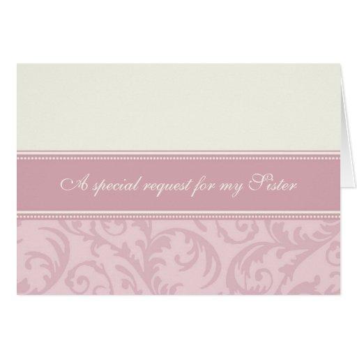 Tarjeta poner crema rosada de la invitación de la