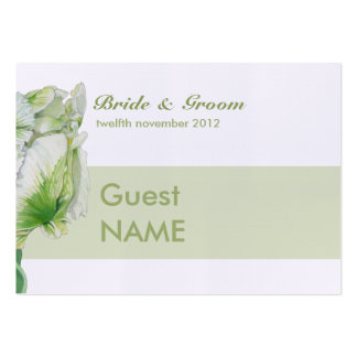 Tarjeta poner crema verde del lugar del tulipán tarjetas de visita grandes