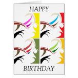 Tarjeta por encargo del feliz cumpleaños