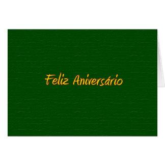 Tarjeta portuguesa del feliz cumpleaños