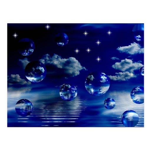 Tarjeta postal Azul sueño