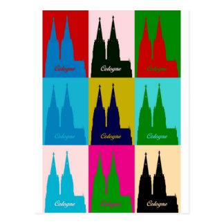Tarjeta postal catedral De Colonia pop especie