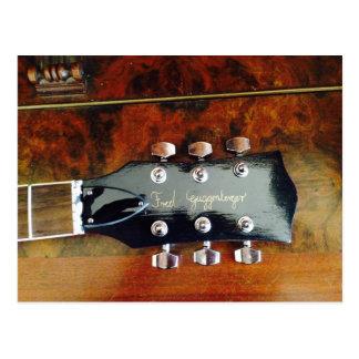 Tarjeta postal con guitarra, Postcard/with guitar