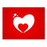 Tarjeta postal corazón rojo