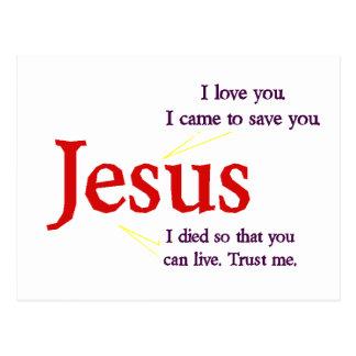 Tarjeta postal de Jesús