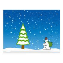 Tarjeta postal de navidad postcard