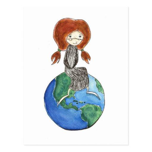 Tarjeta Postal del Mundo Postcard