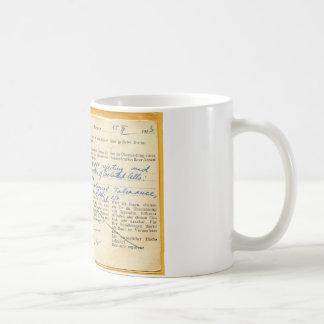 Tarjeta postal enviada en 1963, de un laboratorio taza