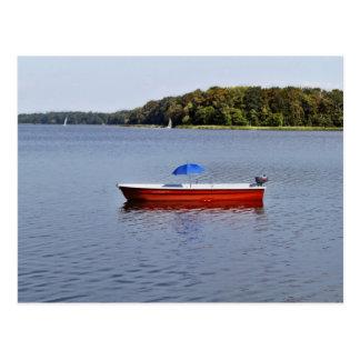 Tarjeta postal - gira de barca