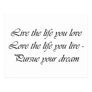 "Tarjeta postal ""Life & Love """
