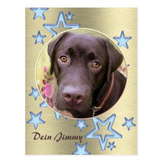 Tarjeta postal perro labrador Jimmy
