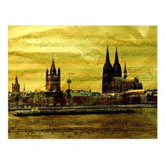 Tarjeta postal Postcard catedral De Colonia