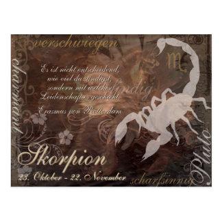 Tarjeta postal Sternzeichen alacrán