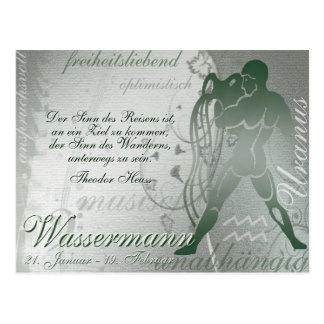 Tarjeta postal Sternzeichen hombre de agua