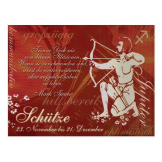 Tarjeta postal Sternzeichen tirador