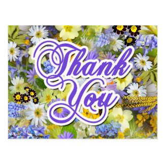 Tarjeta postal - Thank You - Floral