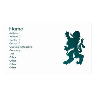 Tarjeta potente del perfil del león tarjetas de visita