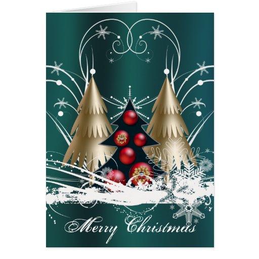 Tarjeta Pre-Impresa del árbol de navidad